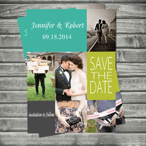 elegant couples photos save the date cards EWSTD047 as low as $0.60