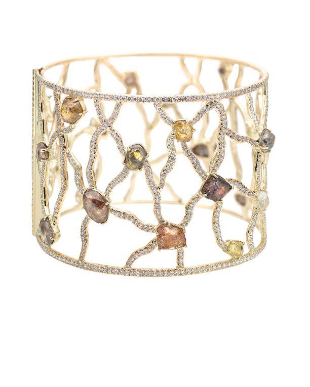 a web of delightsSodwana Cuffs, Diamonds Bracelets, Diamonds Totally, Fashion Jewelry, Cuffs Features, Cuff Bracelets, Diamonds Cuffs Bracelets, Rough Diamonds, Micro Pavé