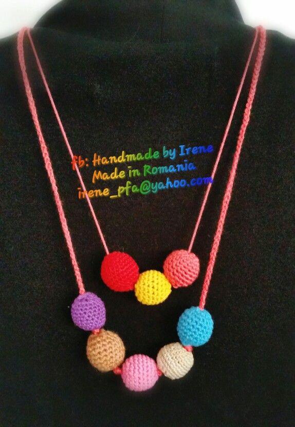Crochet wood bead