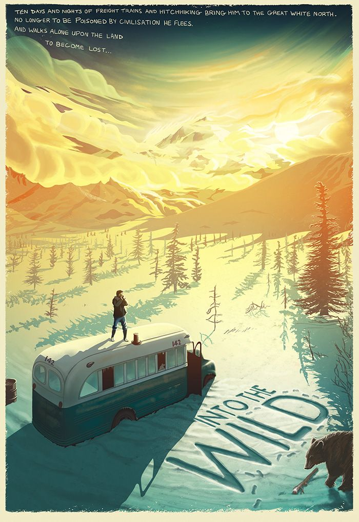 Into the Wild by Pete Lloyd - Home of the Alternative Movie Poster -AMP-