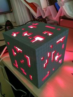 Picture of Super Solid Minecraft Redstone Lamp