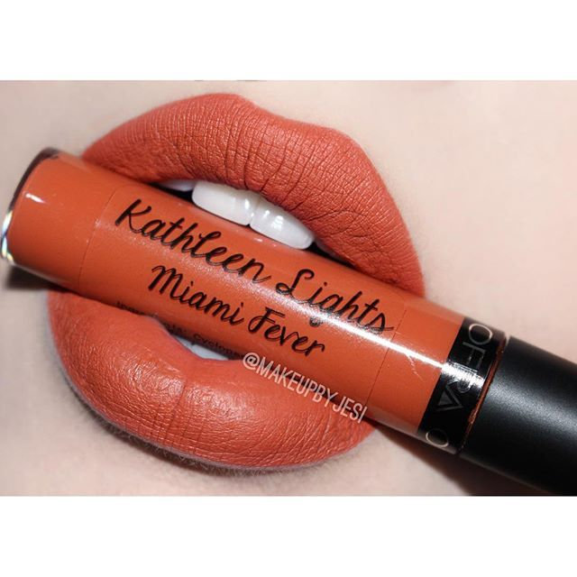 Ofra Cosmetics Long Lasting Liquid Lipstick in Miami Fever by Kathleen Lights. Perfect burnt orange for fall!