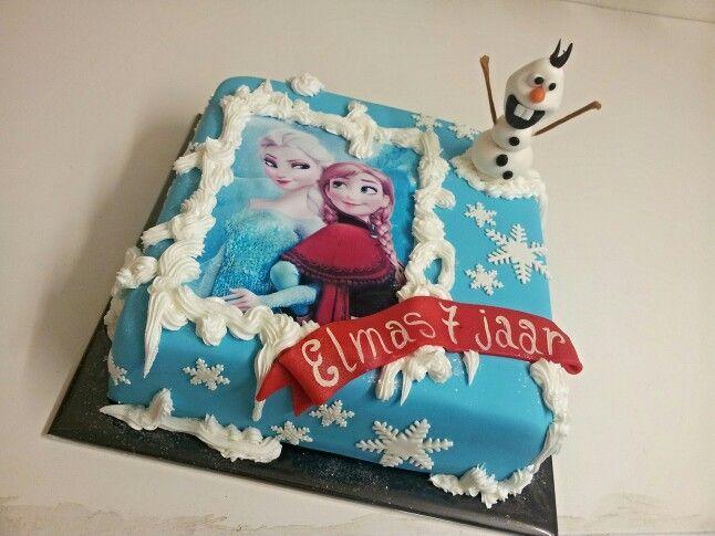 Frozen elza cake