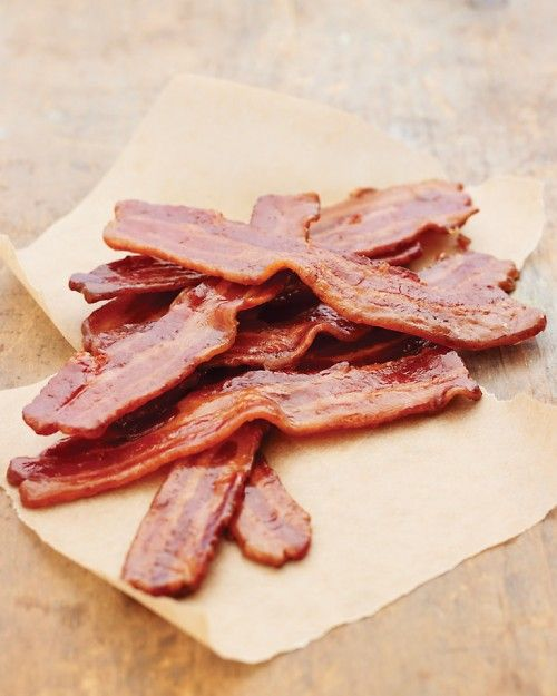 Maple-Candied Bacon.   Having a craving so thought I'd Repinning some recipes from my Bacon Board :)