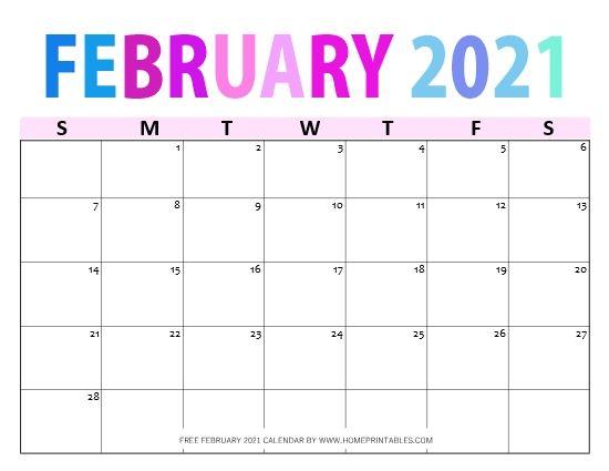 Free Printable February 2021 Calendar in PDF: 12 Designs ...