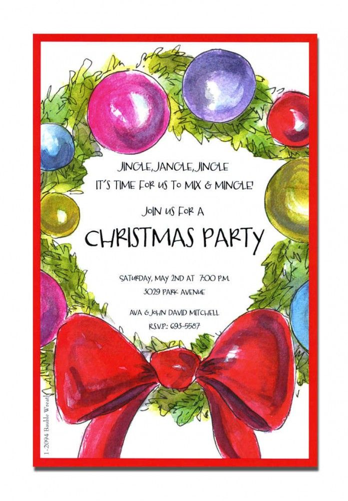 17 Best images about Cards Invites Envelopes Handmade on – Christmas Party Invitation Quotes