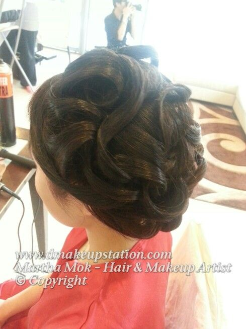""" The Water Wave"" New hair style by Martha Mok Www.dmakeupstation.com"