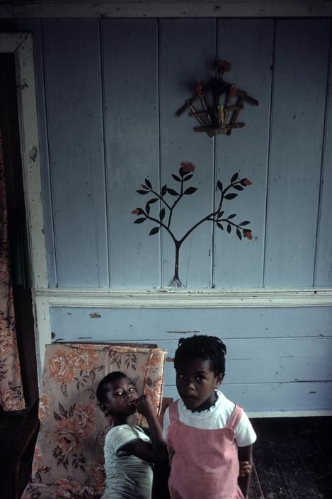 manufactoriel:  Inside a house, St George, Grenada (1979) by Alex Webb