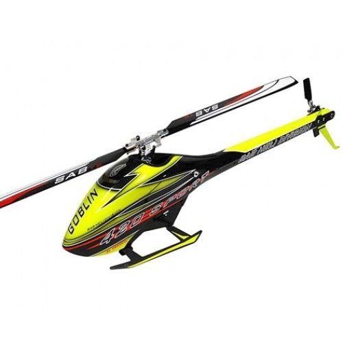 This is the SAB Goblin 420 Flybarless Electric Helicopter