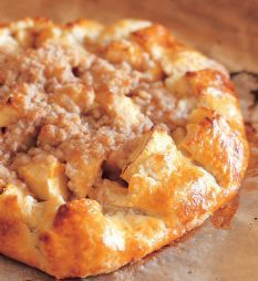 Barefoot Contessa - Recipes - Apple Crostata - Not difficult to make as the crust is prepared in a food processor.  Taste great and looks good.
