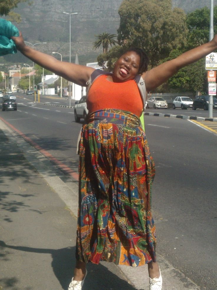 """attempting to capture a fun and ' i am grateful"""" moment Cape Town."""