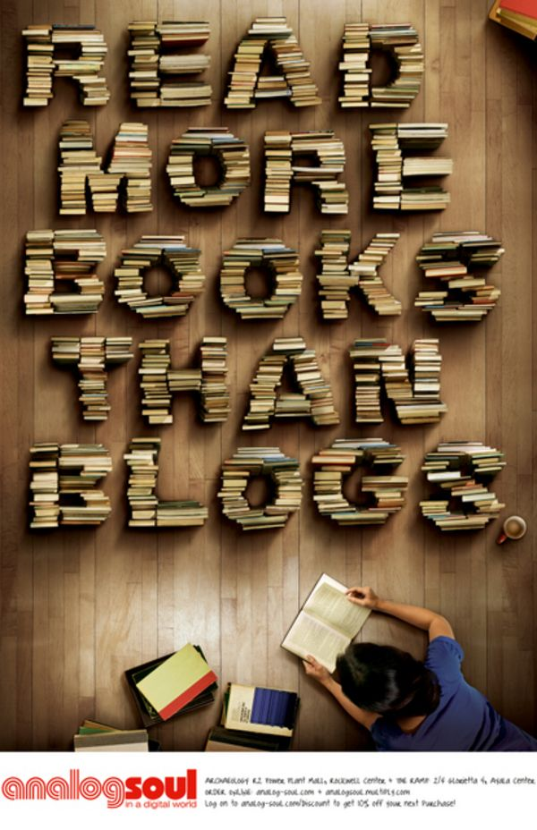 read more books than blogs