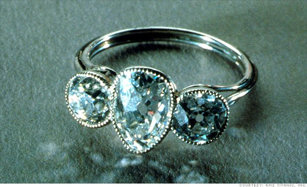 diamond ring recovered from the titanic. beautiful