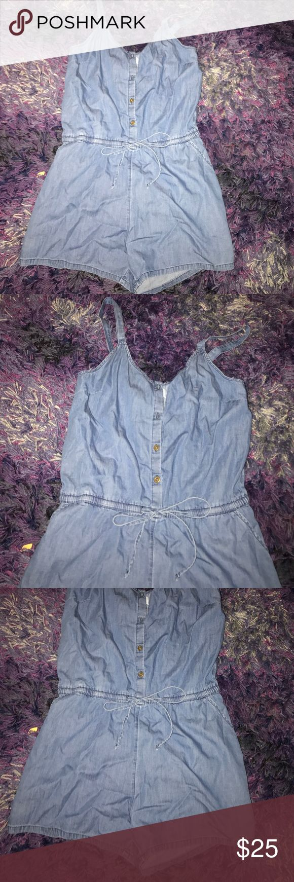 BLUE JEAN ROMPER cute blue jean romper w adjustable straps! Old Navy Pants Jumpsuits & Rompers