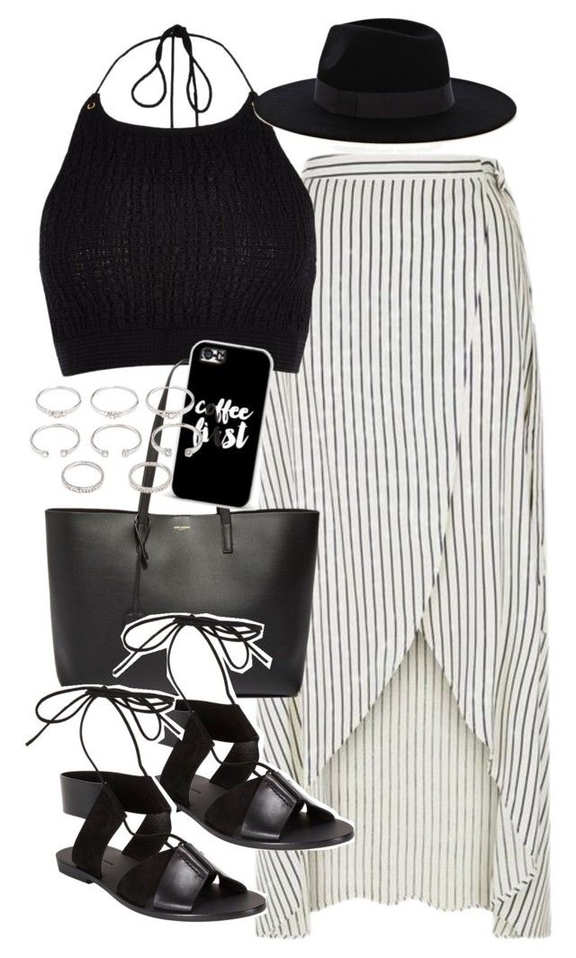 """""""Outfit for Coachella"""" by ferned on Polyvore featuring River Island, Yves Saint Laurent, Casetify, Alexander Wang, Forever 21 and Warehouse"""