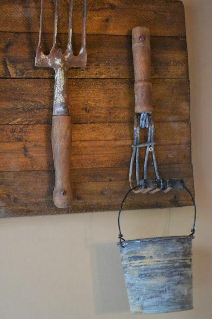 Vintage Garden Tool Hooks www.homeroad.net