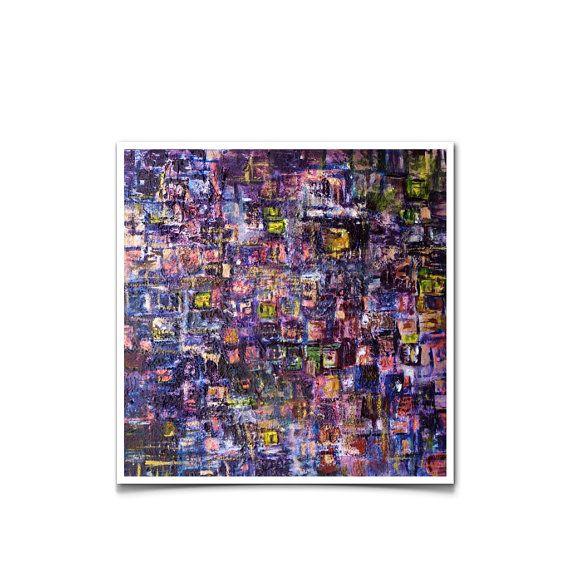 Art Painting  print PurpleBlueLilac by HelenKilsby on Etsy,