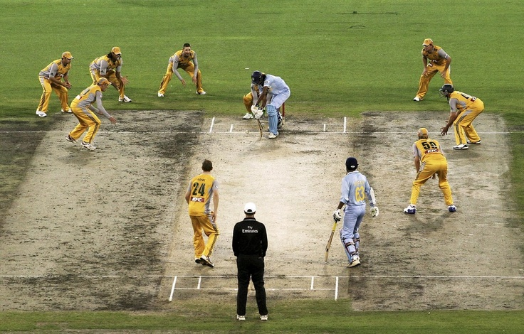 '' CLOSE-IN FIELD: As the name suggests, this is the sort of field the bowling captain will set when the batting team is on the mat. The idea is to try and catch anything that goes off the bat and, more pertinently, show the batting side who's the boss. In this case, it's the Australian team that is all over the hapless Indian batsman.'' # Cricket-My First Love #