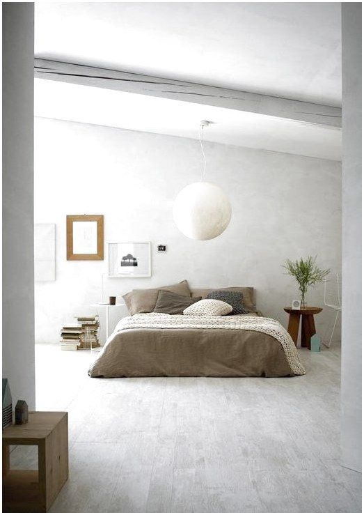 Ceramic Wood Look Flooring In Shades Of Gray Is A Gorgeous Choice For An Elegant Bedroom