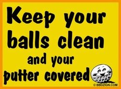 how to keep your balls clean