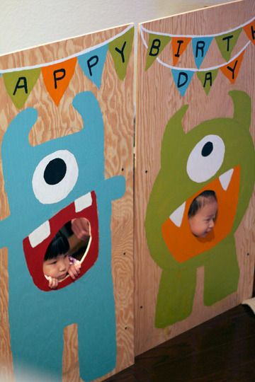 Monster themed birthday party!! Is 26 too old to have one of these??
