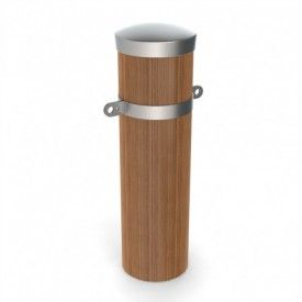 Timber spotted gum bollards