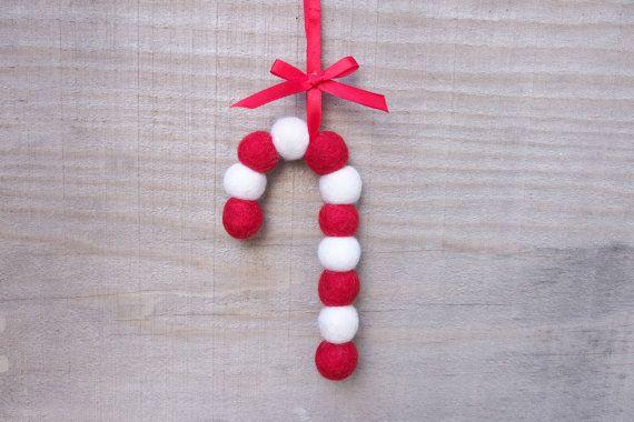 Ornamento di Natale di zucchero filato ago infeltrita di Fairyfolk