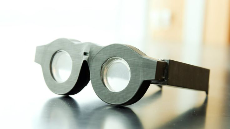 """Engineers have developed glasses with liquid-based lenses that """"flex"""" to refocus on whatever the wearer is viewing."""