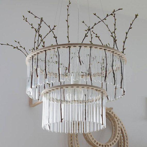 Maria S.C. double test tubes chandelier / lamp / vase by PaniJurek