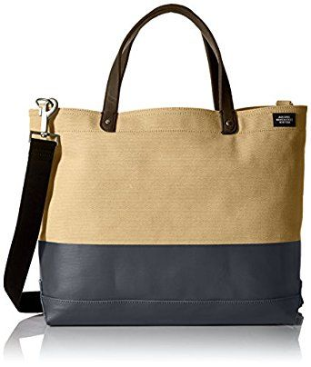 Jack Spade Men's Dipped Coal Tote, Khaki/Navy by Jack Spade for $228.00 http://amzn.to/2k7wC92