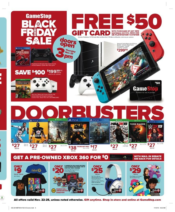 GameStop Black Friday Ad for 2019 Black friday ads