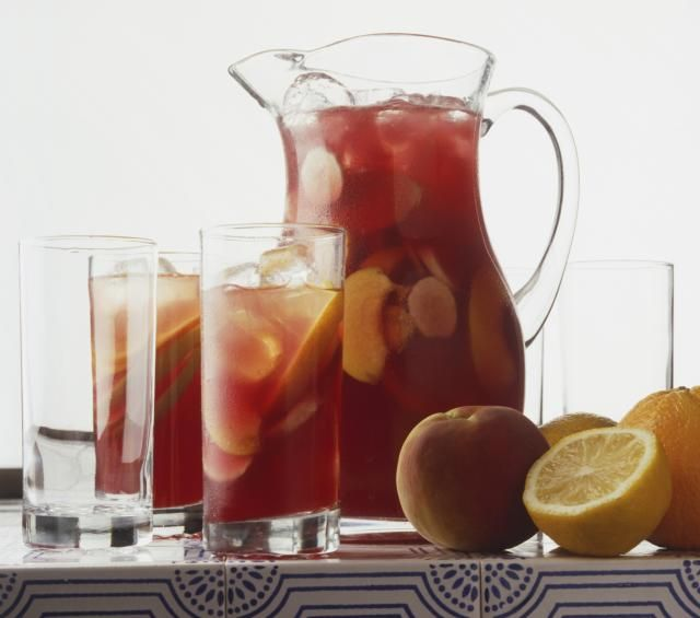 """Sangria is a delicious fruit-based wine """"punch"""" with its heritage well rooted in Spain. Made with wine, fresh fruit and a bit of soda, Sangrias are easy to make, easy to drink and a huge hit at gatherings. Find our favorite Sangria recipes here."""