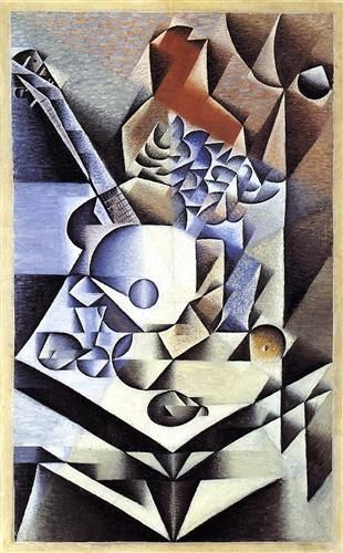 Still Life with Flowers - Juan Gris, oil on canvas 1912