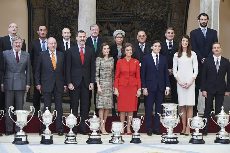 Spanish Sports Gala with Their Majesties King Felipe VI and Queen Letizia and Former King Juan Carlos and Queen Sofia