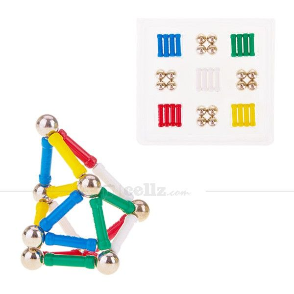 60 Pieces Multicolor Play Magnet & Ball for 5+ Ages Children #play #magnet #ball #children #cellz