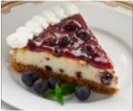 Lemon & Wild Blueberry Cheesecake with Blueberry Sauce
