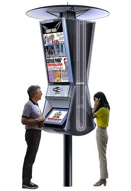 Outdoor fully interactive digital kiosk #kiosk #touchscreen #steeetkiosk