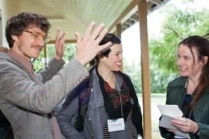 NSW Writers Centre Poetry Festival 2013 - Eddie Hopely, Astrid Lorange and Fiona Hile talking poetry.