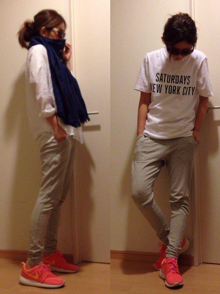 mayumiさんのパンツ「UNIQLO ストレッチジャージテーパードパンツ」を使ったコーディネート