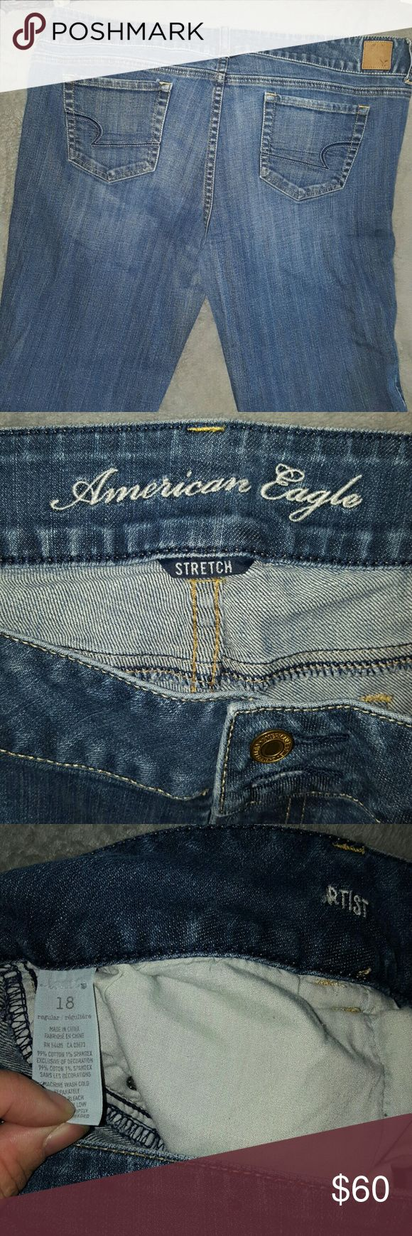 1 HR SALE ARTIST Stretch Jeans American Eagle NWOT ARTIST Stretch Jeans ~ American Eagle New w/o Tags ~ Size 18 regular. Amazing style of jeans in a hard to find size. Perfect for casual or dressy wear. I ship dsily. (#A2 location) American Eagle Outfitters Jeans