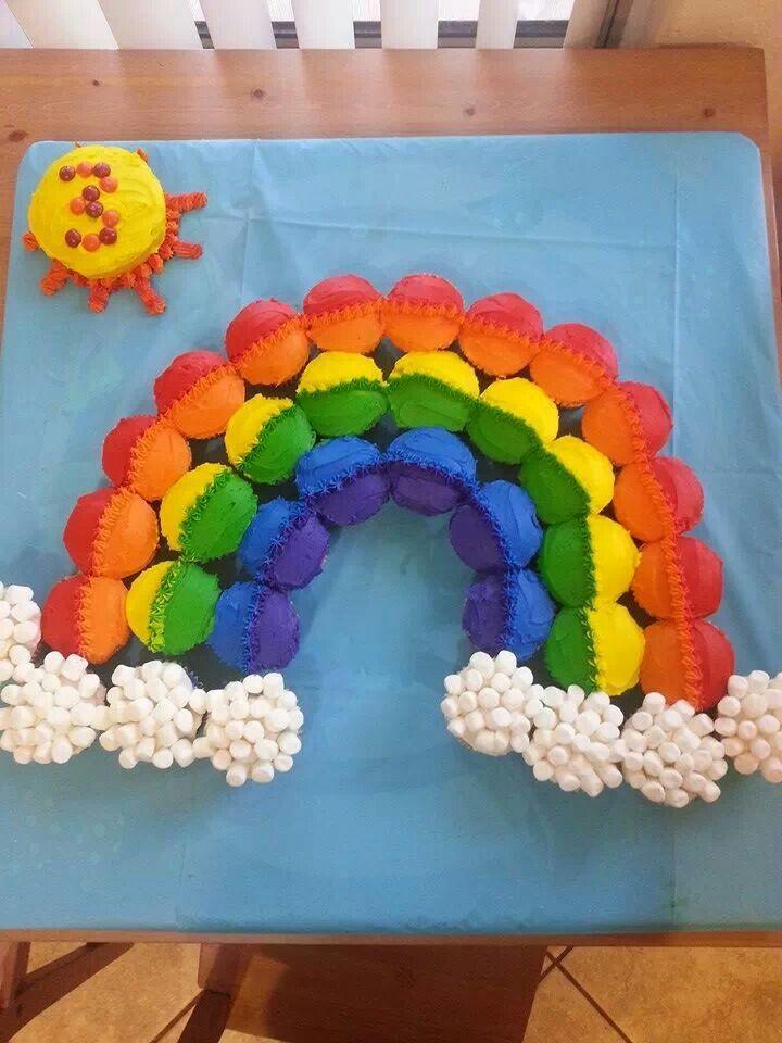 Cupcake Rainbow Cake Ideas