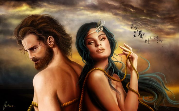 Calypso and Odysseus by dewmanna  Tags  odyssey  ulysses  odysseus    Odysseus And Calypso Movie
