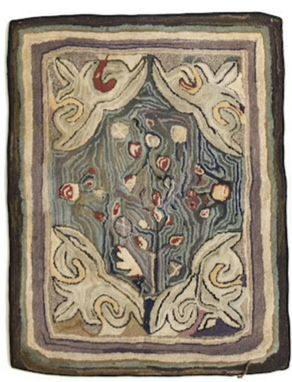 Gorgeous Old Rug With Subtle Colors And Great Movement