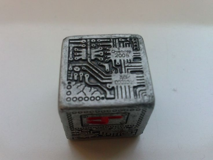 Chip dice - this is almost hand made, and every die has its own specific number