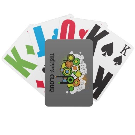 Trippy Cloud Customizable Bicycle Poker Deck