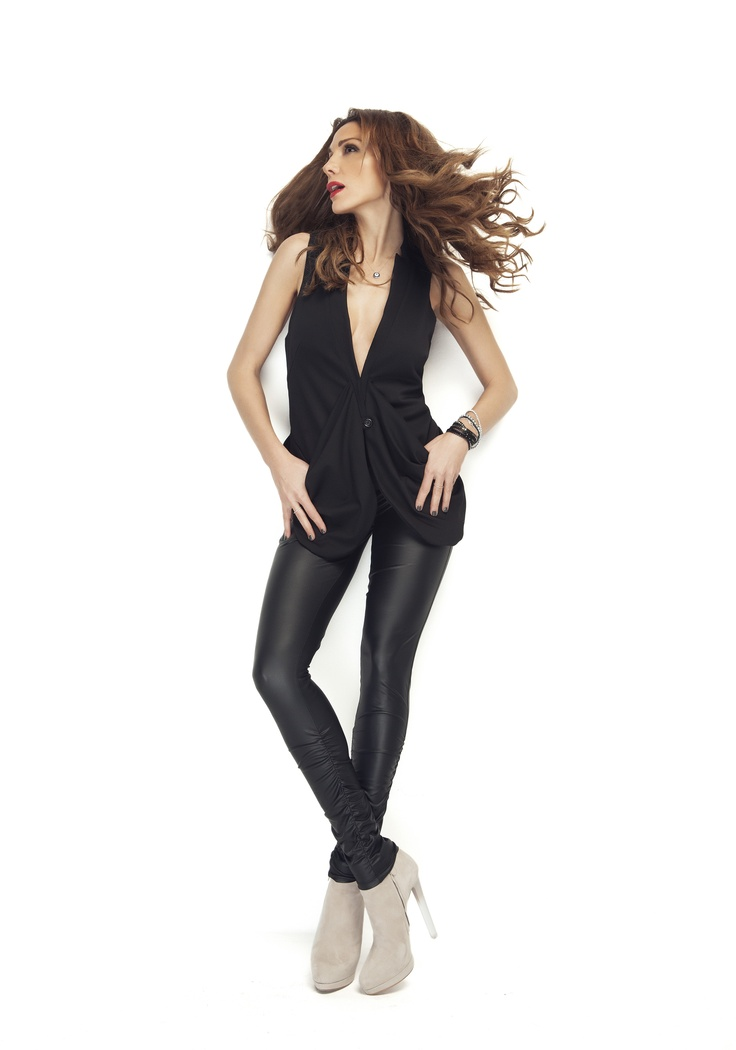 rock leather   Despina Vandi for chip and chip