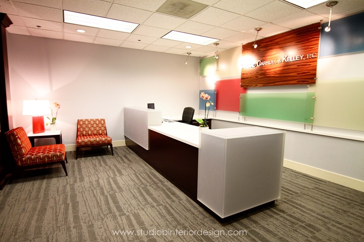 Law Office Reception. Muter tones for glass panels. Perhaps some local area pictures??