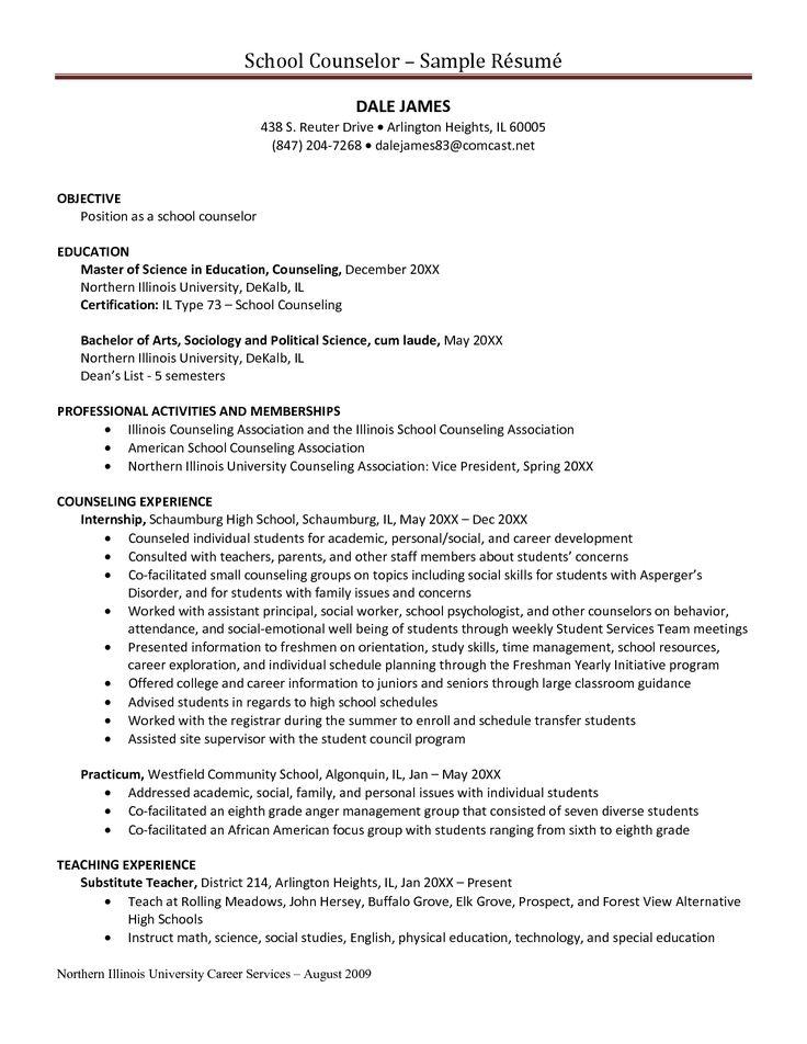 counselor resume sample samples camp application job letter for teacher budget template slideshare