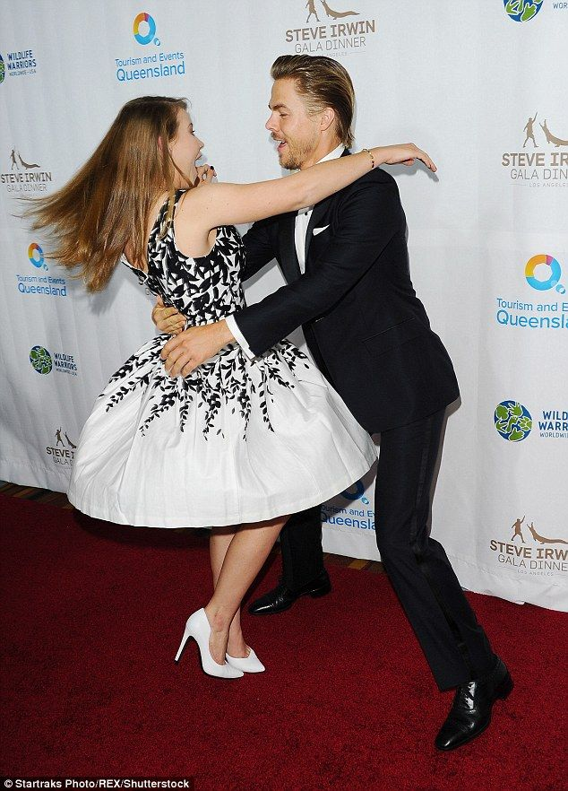 Friends: The wildlife conservationist and her DWTS partner were excited to see each other ...
