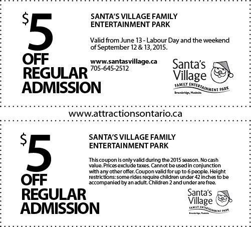 Santa's Village Coupons